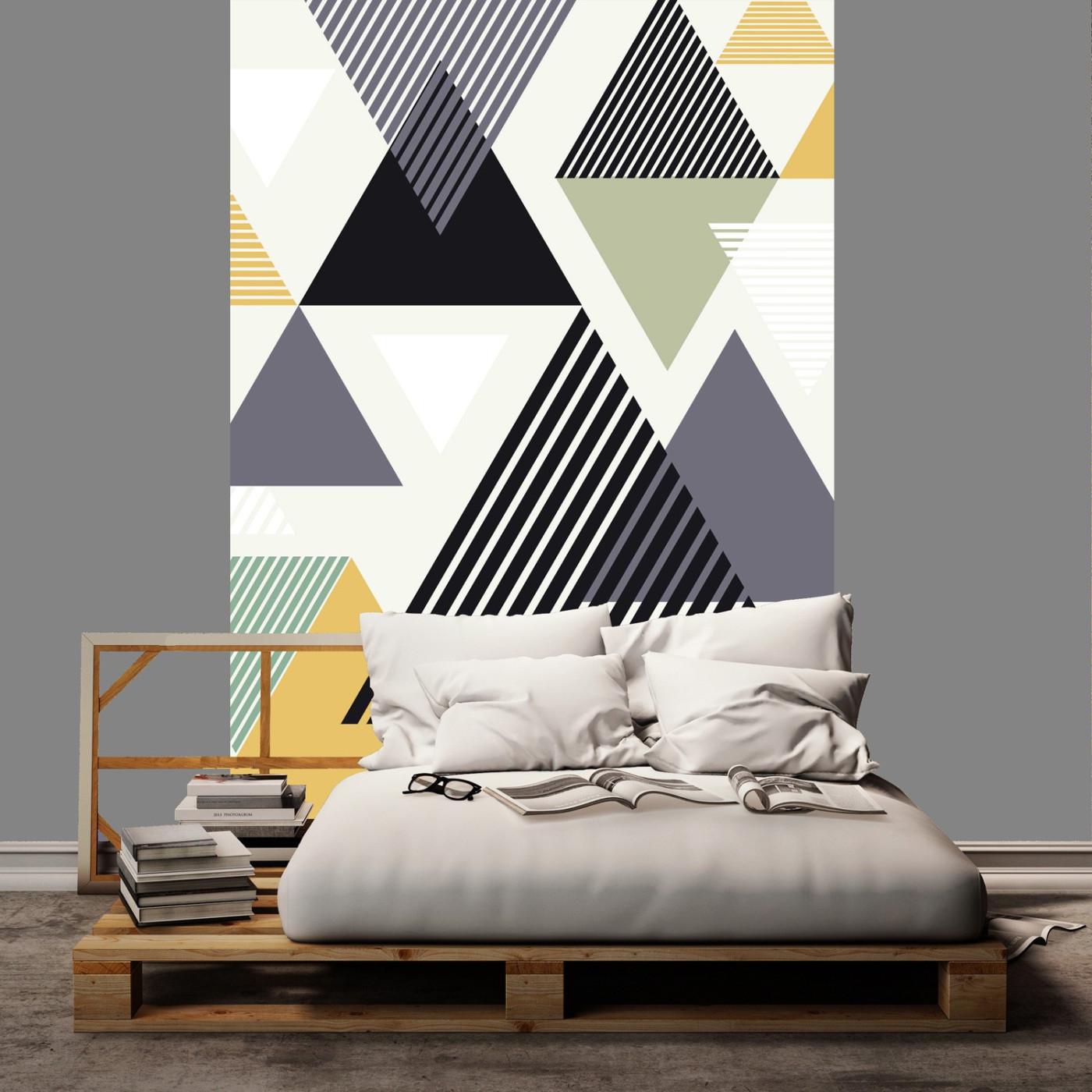 Les Panoramiques, 4 lés de papier peint pour les Papiers de Ninon - Geometric Abstract